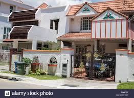 100 Singapore House Middleclass S Joo Chiat District Stock