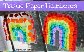 Craft Idea How To Make Contact Paper Tissue Rainbows