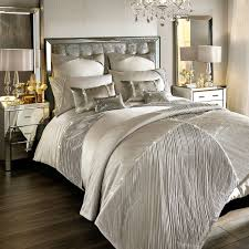 Roma Tufted Wingback Headboard Oyster Fullqueen by Kylie Minogue Bedding Set Liza Full Bed Set Luxury Bedding