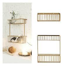 details zu house doctor korb bath messing gold hängekorb wandkorb aufbewahrung bad küche