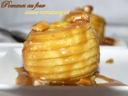 dessert au pomme rapide pommes au four sauce caranougat dans vos assiettes