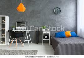graues zimmer mit wenig farbe schlafzimmer mit grauen