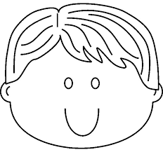 Boy Faces Coloring Picture For Kids