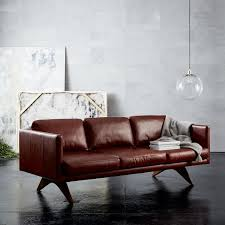 West Elm Everett Chair Leather by Designer Love Low Shelving