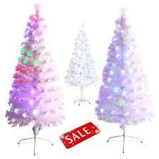 3 Pre Lit Artificial Christmas Trees White Tree Lights Holiday Season Piece Alpine Set 3ft