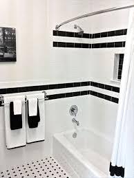 black and white bathroom tile ideas prepossessing decor retro
