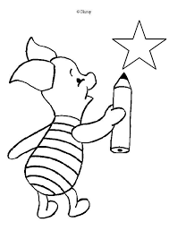 Piglet Is Drawing A Star