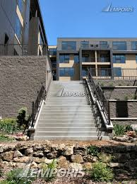 stairs from the midtown greenway up to the private building