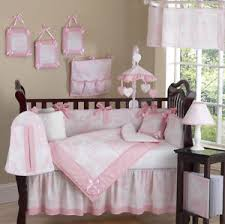 Luxury Boutique French Pink White Toile Discount 9pc Baby Girl