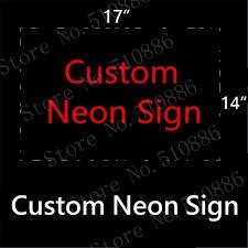 custom neon sign board real glass bar pub club shop