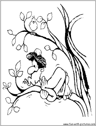 Zaccheus In The Tree Coloring Page