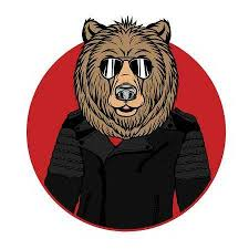 Vector Illustration Of Bear Portrait In Sunglasses And Leather Jacket Retro Style Hipster Look