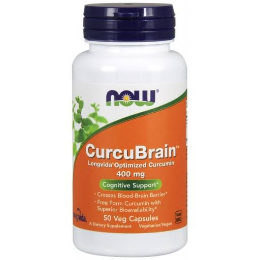 Now Foods Curcubrain Longvida Optimized Curcumin - 400mg, 50 Veg Capsules