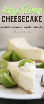 Healthy Key Lime Cheesecake Gluten Free