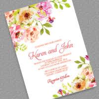 Vintage Floral Border Invitation Template