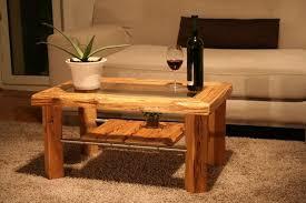 couchtisch glas massivholzmöbel aus altholz woodesign