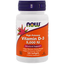 now foods vitamin d 3 high potency 5 000 iu 120 softgels