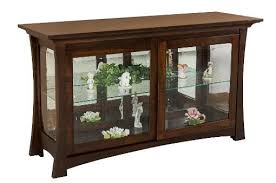 amish home place handcrafted dining furniture china cabinet curio