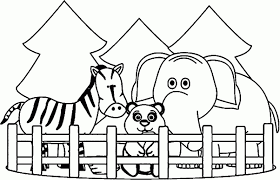 Kindergarten Zoo Coloring Worksheet Printable Riley Piñatas