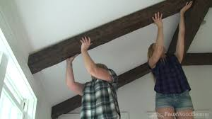 100 Beams On Ceiling How To Install On A Working With Faux Wood YouTube