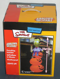 Halloween Airblown Inflatable Lawn Decorations by Sold Bart Simpson Airblown Inflatable Vampire Pumpkins 8 Feet
