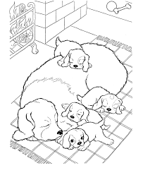 Dog And Puppy Coloring Pages Find Awesome At TheColoringBarn