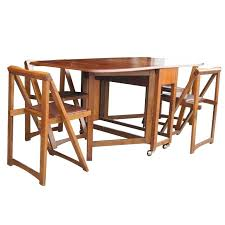 Foldable Dining Room Tables Vintage Wood Folding Table With Four Chairs Set At And Uk