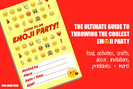How To Throw An Emoji Party The Ultimate Roundup Of Seriously Awesome Snacks Invitations