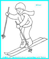 Coloriage Ski De Fond En Ligne Gratuit à Imprimer