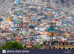 100 Houses For Sale In Lima Peru Colorful On A Hillside In Stock Photo
