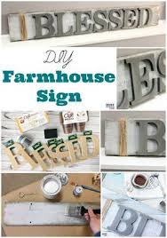 DIY Farmhouse wood signs Make your own farmhouse style signs with