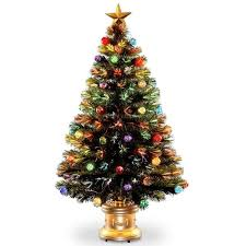 National Tree Company 4 Ft Fiber Optic Fireworks Artificial Inside Christmas Trees
