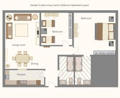 Recently Sample Crystal Living Courts Bedroom Apartment Layout