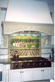 Installation Photo Shows More Of The French Vineyard Backsplash Mural And Kitchen Decor