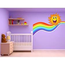 stickers chambre d enfant stickers autocollant chambre d enfant soleil arc en ciel 17560