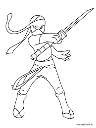 Ninja Coloring Pages For Boys 7