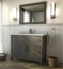Kent 42 inch French Gray Finish Bathroom Vanity Bath