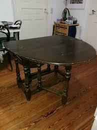 wohnzimmer esszimmer tisch klapptisch café haus look antik holz