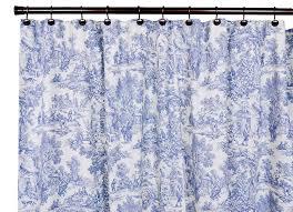 Ebay Curtains Laura Ashley by Amazon Com Victoria Park Toile Bathroom Shower Curtain Blue