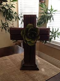 This Cross Is Made From Recycled Pressure Treated Lumber And Painted A Maroon Color