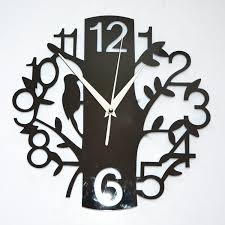 Home Decoration 3d Tree Mirror Wall Clock Safe Modern Design Diy Digital Watch Sticker Clocks Tv Bird International