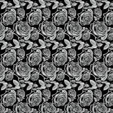Download Antique White Vintage Roses On Black Background Stock Illustration