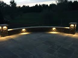 retaining wall lights led light 6 deck step and landscape with