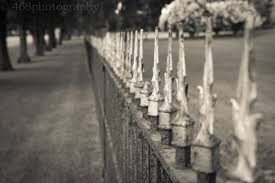 Halloween Graveyard Fence by Cemetery Explore468photography