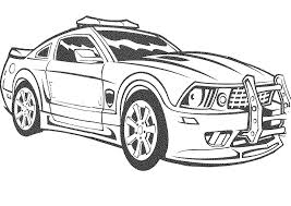 Police Car Coloring Pages Cool