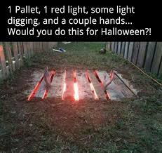 Halloween Coffin Prop by Cool And Easy Idea Just Have To Be Willing To Dig A Hole In Your