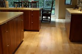 Maple Hardwood Floor Refinish Kitchen
