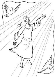 Jesus Ascending Into Heaven Acts 1 Easter StoryColoring SheetsSunday