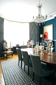 Bay Window Dining Room Curtains Large Windows With Geometric Rug Outside Decorating Ideas