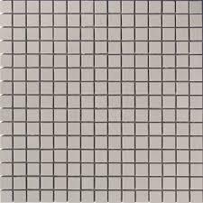 lyric unglazed porcelain rectified edge mosaic tile in fog